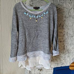 3/$15 Girls sweater blouse